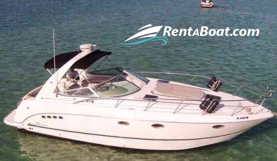 Outside of 34 foot boat rentals Florida MIAMI Florida  Sea Ray Sundancer 2004 34