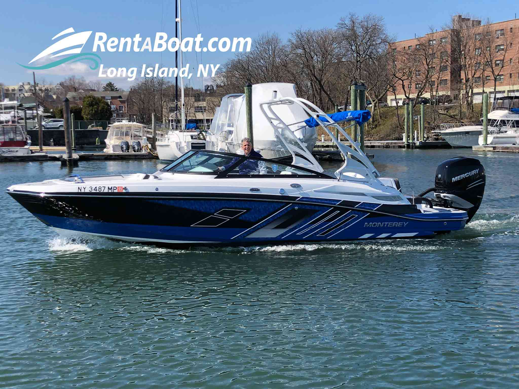 Front of boat Monterey m45 boat rentals New York NEW ROCHELLE / NEW YORK / LONG ISLAND / CITY ISLAN New York  Monterey M45 2019 25