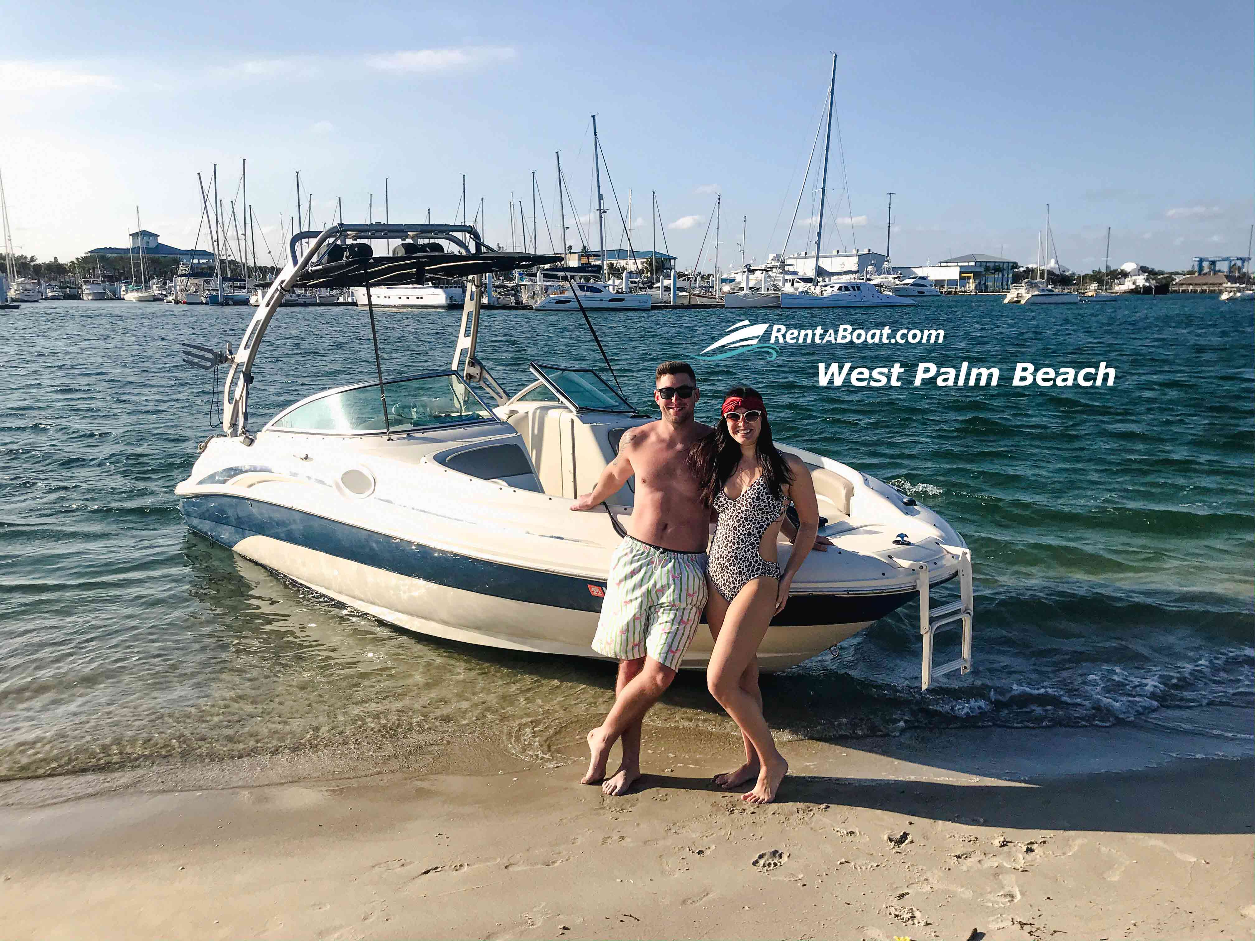boat rentals Florida WEST PALM BEACH Florida  Sea Ray SunDeck 2001 24 Feet