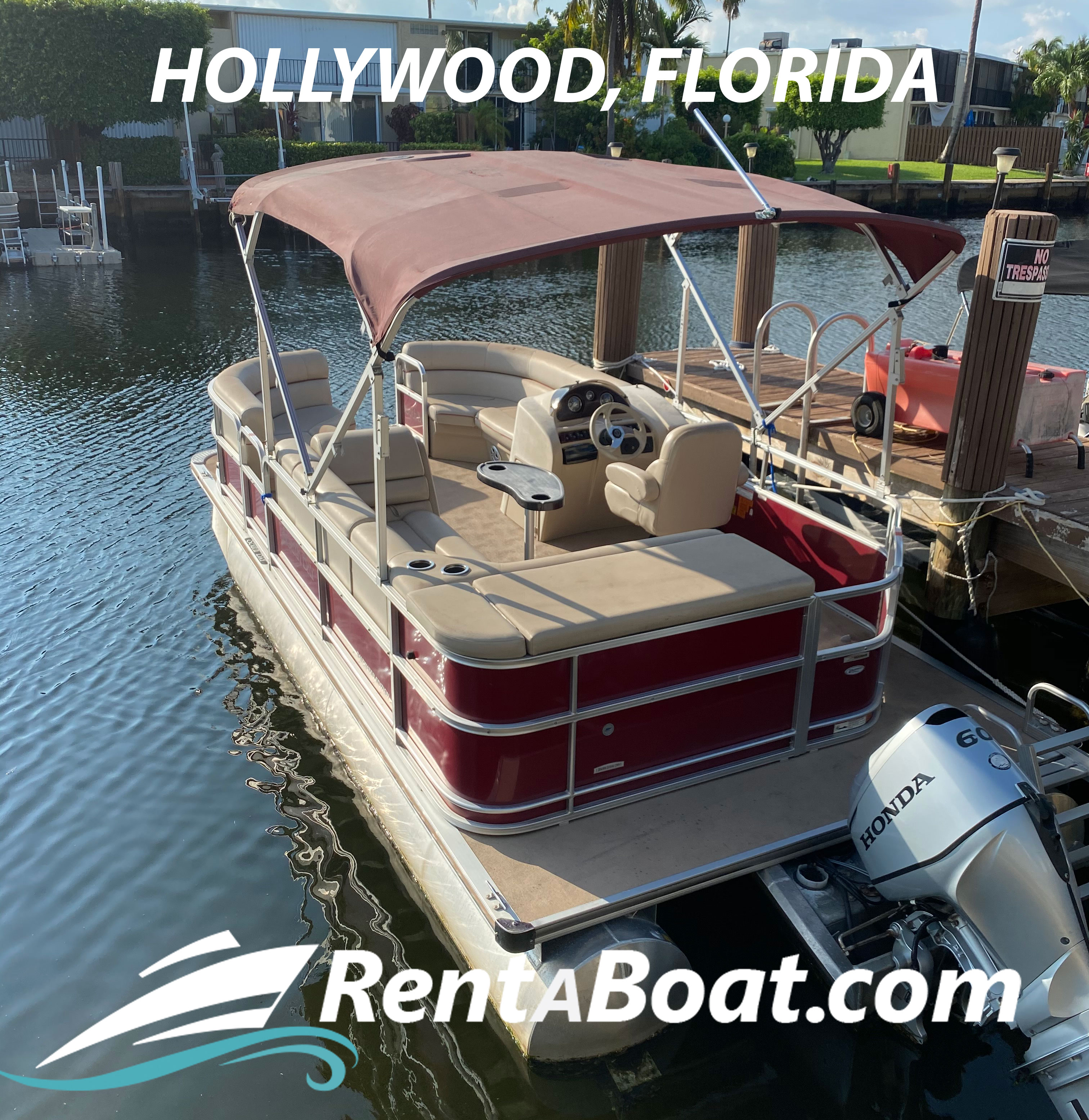 boat rentals Florida HOLLYWOOD Florida   Pontoon 18 feet 2016 18