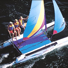 boat rentals Florida Key Largo to Key West Florida  Hobie-cat 16